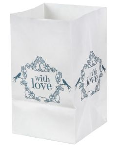 Candle bags With Love mintgoen | per 6 stuks