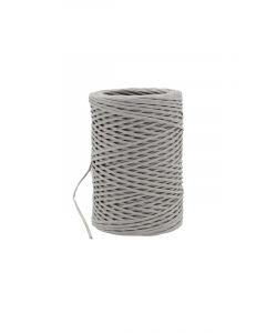 Paper cord wired grijszilver 2 mm (50 meter)