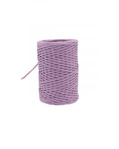 Paper cord wired lila 2 mm (50 meter)