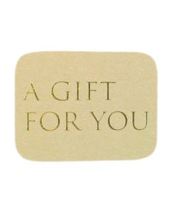 Wensetiket a gift for you goud (500 stuks)