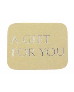 Wensetiket a gift for you zilver (500 stuks)