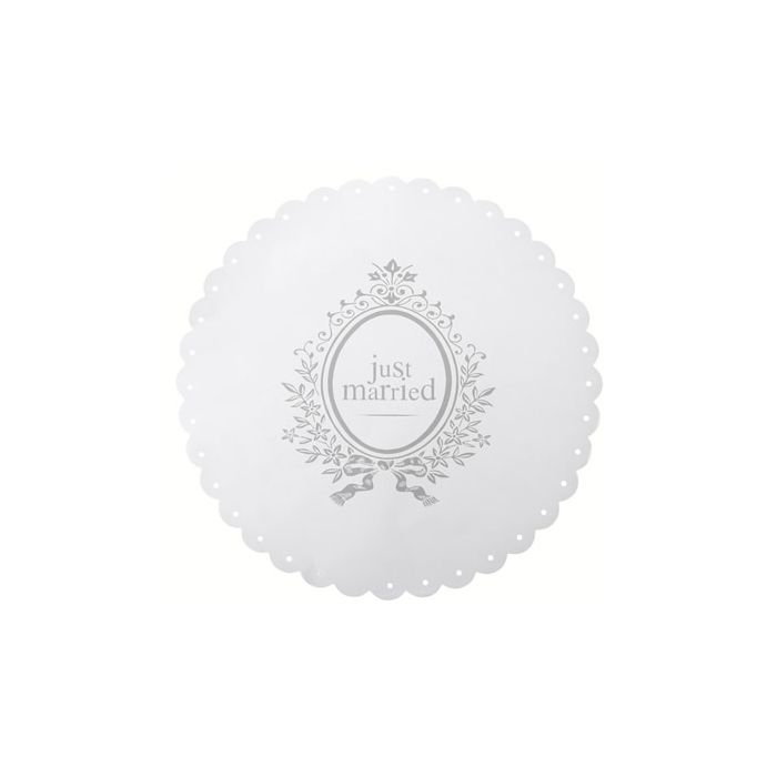 Placemat Just Married wit