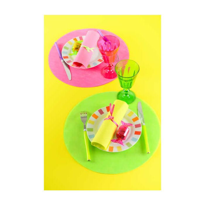 Placemat rond paars